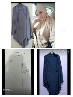 Diy Clothes Tutorial, Hijab Tutorial, Tunic Sewing Patterns, Dress Patterns, Abaya Pattern, Instant Hijab, Sewing Clothes Women, Islamic Clothing, Hijab Dress