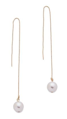 Jules Smith Large Hanging Imitation Pearl Earrings $45.00