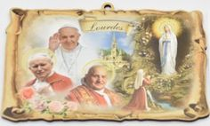 Wall Plaques using Special Gold Foil Techniques and Wall Plaque depicting the Apparitions, Holy Family, the blessed Virgin Mary with Hold Child along with many more. Our Lady Of Lourdes, The Cross Of Christ, Last Supper, Blessed Virgin Mary, Wall Crosses, Holy Family, Wall Plaques, Catholic, Painting