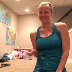 """I titled this circuit """"MOM MESS WORKOUT,"""" and can you see why? . I'm a mom who's constantly surrounded by kid messes! Can you relate? But I won't let that stop me from working out or sharing some new moves for you to try. Seriously, you only need about 6 feet of space for this circuit.  Please tag a mom or share this video so other moms can feel empowered to get it done in the midst of the craziness too! . I warn you...the moves are deceptively challenging!  But give it a go - you'll n..."""