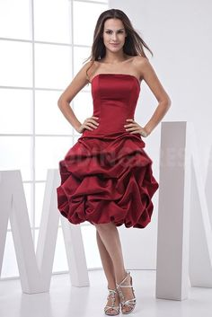 Strapless Romantic Red Homecoming Dresses - Order Link: http://www.theweddingdresses.com/strapless-romantic-red-homecoming-dresses-twdn4581.html - Embellishments: Beading; Length: Floor Length; Fabric: Satin; Waist: Natural - Price: 187.1312USD