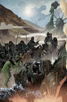 KONG ON PLANET OF APES #1 CONNECTING MAGNO VAR