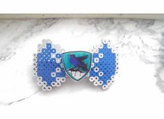 Hogwarts Ravenclaw Perler Bead Bow by XXXsandOOOsBows on Etsy, $3.00/$6.00
