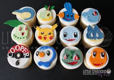Pokemon inspired cupcakes for Cooper's 6th Birthday! #littlecreationsbyrose…