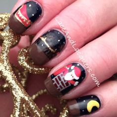 Lace and Lacquers: 12 Days of Christmas Nail Art Challenge: Day 2 - Holiday Song
