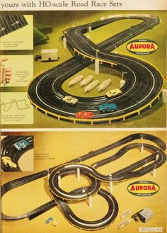 Slot Cars Race Track Sets - Some of my favorite memories as a kid came from sitting on the floor racing slot cars with my brothers for hours. Slot Car Race Track, Slot Car Sets, Ho Slot Cars, Slot Car Racing, Slot Car Tracks, Race Tracks, Retro Toys, Vintage Toys, 1970s Toys