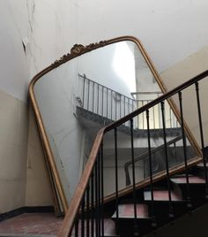 dontcallmecliff: Im posting this for no other reason than I once gave a mirror like this along with a bunch of brass stair-rods to Jack Vettrianno in exchange for one of his paintings! Its still lying around somewhere in my attic! Jolie Photo, Looks Cool, Storyboard, Oeuvre D'art, Decoration, Stairs, Design Inspiration, In This Moment, Cool Stuff