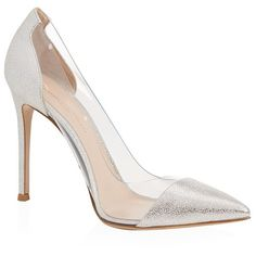 Gianvito Rossi Calabria Metallic Court ($765) ❤ liked on Polyvore