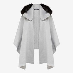 The French Connection Faux Fur Poncho is made from a lux wool blend winter weight fabric and features fuax fur trimmed hood. This layering piece will have you looking super stylish this winter. 50% Wool, 50% Polyester.Cool hand wash separately.