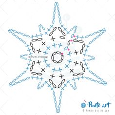 Crochet ideas that you'll love Free Crochet Snowflake Patterns, Crochet Symbols, Crochet Mandala Pattern, Crochet Stars, Christmas Crochet Patterns, Crochet Snowflakes, Crochet Flower Patterns, Crochet Diagram, Crochet Stitches Patterns