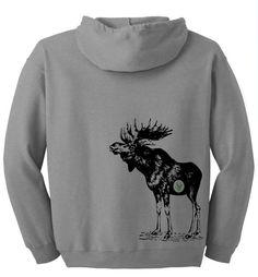 Items similar to Men or womens hoodie. Moose eats grass screen printed funny pullover hoody sweatshirt. eat me. on Etsy
