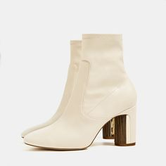 HEEL DETAIL ANKLE BOOTS - Available in more colours