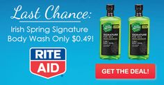 Rite Aid: 3 Days Left to Score Irish Spring for $.49 & Other Deals!