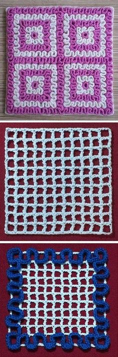 Crochet Squiggly Wiggly Square