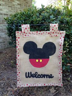 Mickey mouse garden flag by WREATHSBYCHRISTEE on Etsy