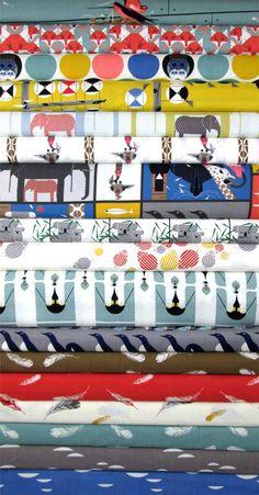 Charley Harper for Birch Organic Fabrics, Nurture in FAT QUARTERS 17 Total