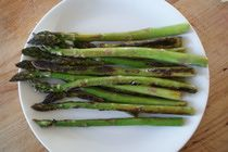 Pan-Roasted Asparagus - for when there's something else in the oven