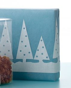 See the Wintry Scene Gift Wrap Template in our  gallery