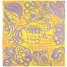 The design for this scarf – called Gourmet - was created in 1947 by Patrick Heron, and was produced by Cresta Silks. Originally produced in blue and white, it was specially selected by Heron to be recoloured to accompany the major exhibition of his work at Tate Britain 1998. Tate has collaborated with British manufacturer Beckford Silks to re issue this stunning accessory.