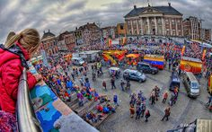Fisheye-View Grote Markt,Groningen stad,the Netherlands,Europe