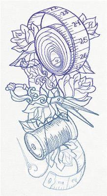 Colour it, sew it, trace it, etc. Sewing theme