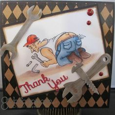 Della (@ibrakeforstamps) • Instagram photos and videos Art Impressions, Crafters Companion, Good Ole, Masculine Cards, Thank You Cards, Card Making, Stamps, Fun, Handmade