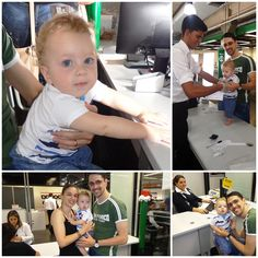 Davi Luiz, de 10 meses, é filho do colaborador do Poupatempo Campinas Shopping, Hueslei Eleutério, e foi visitar o papai na unidade para tirar seu primeiro RG.  Durante o atendimento, Davi fez biquinho para a câmera, brincou e até subiu na mesa na hora da coleta das digitais.  Parabéns aos pais Larissa e Hueslei pelo gesto de #amor e #cidadania.  #bebêPoupatempo #MeuPrimeiroRG