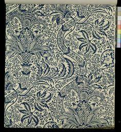 William Morris wallpaper, blue seaweed