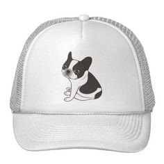 #Say hello to the cute double hooded pied Frenchie Trucker Hat - #bulldog #puppy #bulldogs #dog #dogs #pet #pets