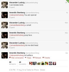 Let's take a moment to appreciate how Alexander Ludwig and Amandla Stenberg communicate with each other over Twitter.