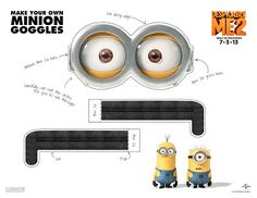 Despicable Me 2 Minion Goggles!