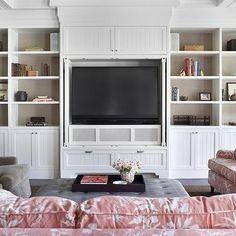 TV Built Ins, Transitional, living room, Burnham Design