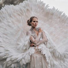 61 Fur, Feather and Ruffles. Visit the post for more. Feather Fashion, Fairytale Fashion, Fantasy Photography, Feather Dress, Moda Vintage, Editorial Fashion, Ruffles, Marie, Wedding Gowns