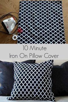 10 Minute No Sew Iron On Pillow Cover & No Sew Pillow Case - DIY | Sew pillows Pillow cases and Pillows pillowsntoast.com