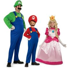 Super Mario Brothers Family Costumes