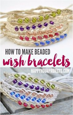 Easy Crafts To Make and Sell - Beaded Wish Bracelets - Cool Homemade Craft Projects You Can Sell On Etsy, at Craft Fairs, Online and in Stores. Quick and Cheap DIY Ideas that Adults and Even Teens Can Make http://diyjoy.com/easy-crafts-to-make-and-sell #diyjewelry