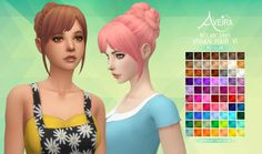 Lana CC Finds - aveirasims: NolanSims Vivian Hair V1 - Recolor ...