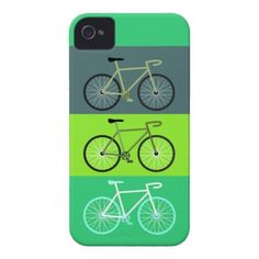Green Bicycles iPhone 4 Cases