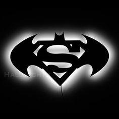 Batman Vs. Superman Sign and Wall Night Light