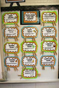 Classroom Jobs 10 Best Organizing Tips for the Classroom- Student and group jobs! Be a team! 5th Grade Classroom, Classroom Design, School Classroom, Classroom Ideas, Future Classroom, Classroom Job Chart, Classroom Activities, Classroom Jobs Display, Classroom Helpers