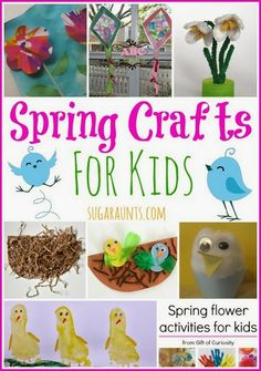 Spring Crafts for Kids - The OT Toolbox Spring Crafts For Kids, Holiday Crafts For Kids, Spring Projects, Summer Crafts, Fun Crafts, Flower Activities For Kids, Spring Activities, Craft Activities, Creative Activities