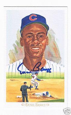 Ernie Banks Autograph Perez Steele Celebration Postcard | eBay