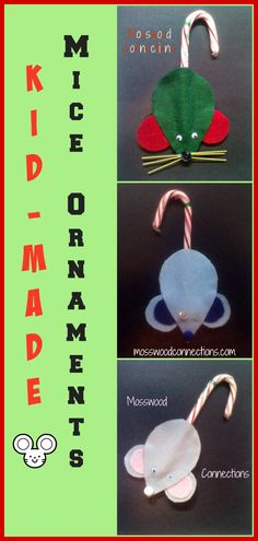 Our holiday-inspired craft is our Kid-Made Mice Christmas Ornaments. Kid-Made Mice Christmas Ornaments make great gifts & look so sweet hanging on the tree. Kids Christmas Ornaments, Christmas Activities For Kids, Christmas Projects, Handmade Christmas, Holiday Crafts, Christmas Decorations, Christmas Ideas, Felt Projects, Christmas Things