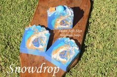 Snowdrop Soap Bars by SweetSoftSkin on Etsy