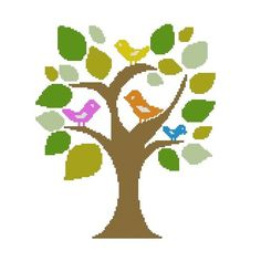 FANTASY TREE CROSS STITCH PATTERN IN PDF FORMAT