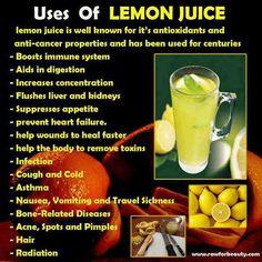 Health Benefits of lemon juice-Antioxidants-Anti cancer-Radiation Lemon Juice Benefits, Lemon Juice Uses, Lemon Uses, Water Benefits, Liz Lemon, Juicing Benefits, Oil Benefits, Health Remedies, Home Remedies