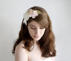 Bridal hair accessory Romantic wedding Flower by SchickiMickis