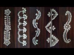 Innovative and unique Border Rangoli | Freehand Border rangoli Designs | #88 - YouTube