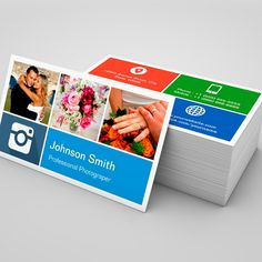 Photography Collage - Creative Modern Metro Style Business Cards. You can customize this card with your own text, logo, photo, or use this pre-existing template for FREE.