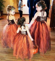 Burnt Orange Tutu Dress or Tutu--Flower Girl Dress---Available in ...